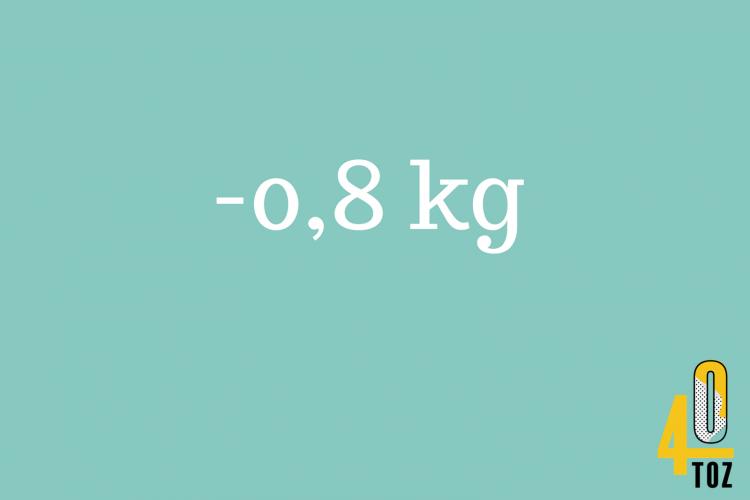 40TOZ: -0,8 kg