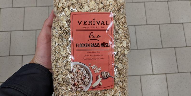 Verival Bio Flocken Basis Müsli ohne Zucker