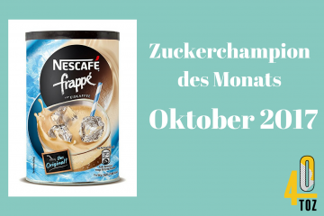 40TOZ: Zuckerchampion des Monats - Oktober 2017