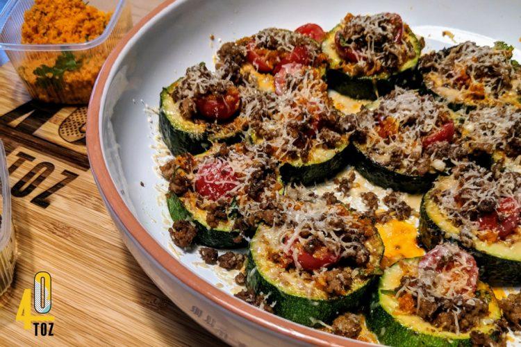Rezept: Zucchini als Taler mit schwarzem Knoblauch