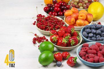 Obst mit wenig Zucker