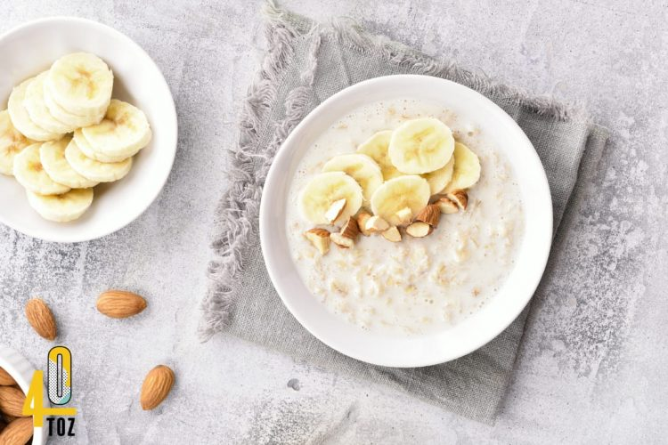 Porridge mit wenig oder ohne Zucker